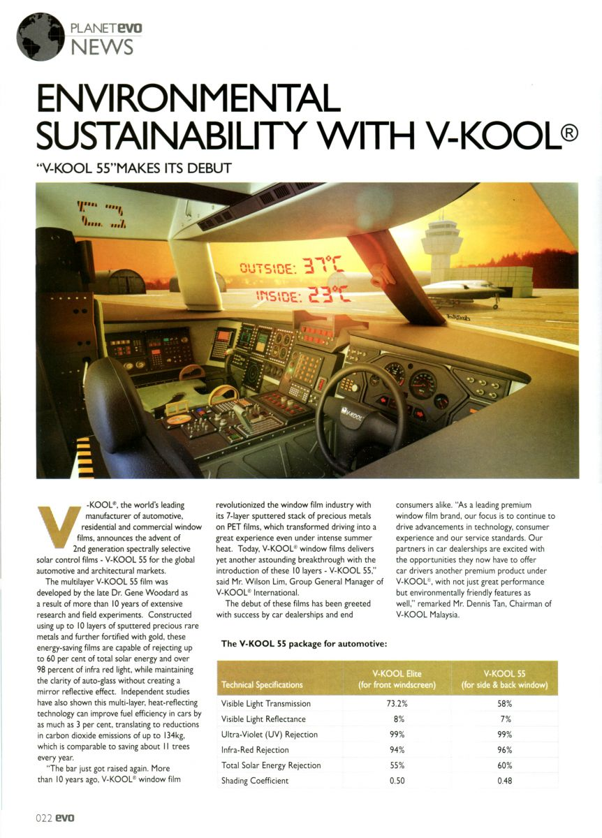 Environmental sustainability with V-KOOL™ - EVO Magazine