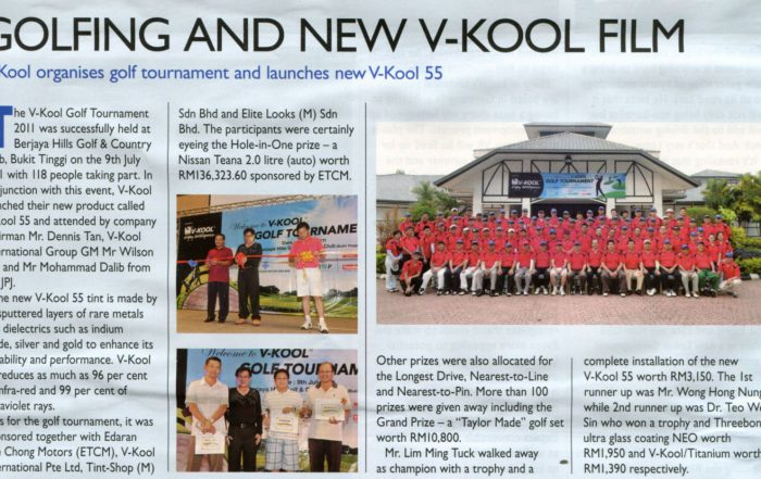 Golfing and new V-KOOL Film - EVO Magazine