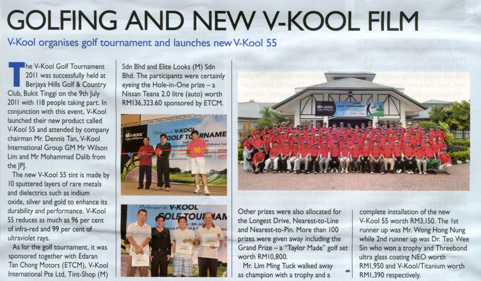 Golfing and new V-KOOL Film - EVO Magazine