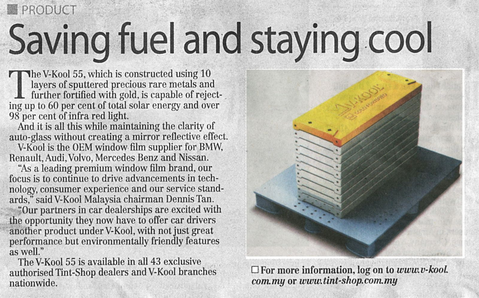 Saving fuel and staying cool - New Sunday Times